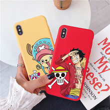 Creative personality solid color mobile phone case for iPhone X XR 6 6s 7 8 Plus cartoon pattern back cover XS Max