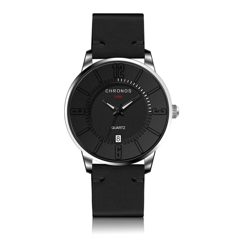CHRONOS 3ATM Waterproof Quartz Movement Unisex Wrist Watches Casual Watch Calendar Pointers Wrist Watches Sports Wrist Clock