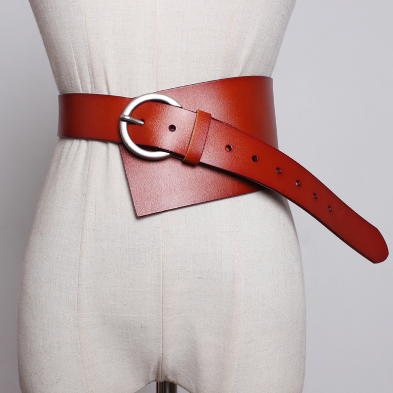 Women Cummerbunds Genuine Leather Wide Belt For Dress Cowhide Corset Belts Fashion Corset All Match Wide Belts 2019 XX152