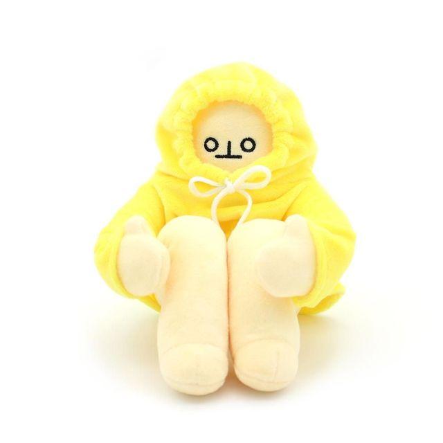 40cm WOONGJANG Dolls Plush Toys Banana Man Dolls Yellow Korea Popular Appease Dolls Birthday Gifts for Children Baby Banana Man