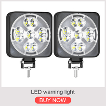 Car LED Work Light COB Chips 46 watts DC 12/ 24 Volts 6500K White Spot Lighting for FSO Universal Truck Auto Bulbs