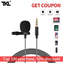 K1 Lapel Clip Microphone Professional For Phone 3.5mm Audio Video Record Lavalier for DSLR Mac Vlog Mic