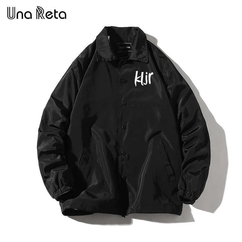 Una Reta Man Jas Herfst Nieuwe Solid Single-breasted Trainingspak Jas Jas Mannen Hip Hop Plus Size Jassen Print streetwear Jas
