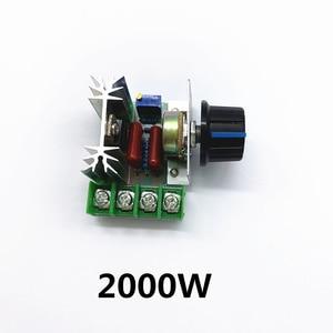 AC 220V 2000W SCR regulador de voltaje oscurecimiento reguladores controlador de velocidad del Motor termostato electrónico módulo regulador de voltaje