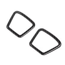 2 шт Автомобильная карбоновая зернистая Передняя колонна крышка динамика Накладка для Ford F150- внутренние аксессуары
