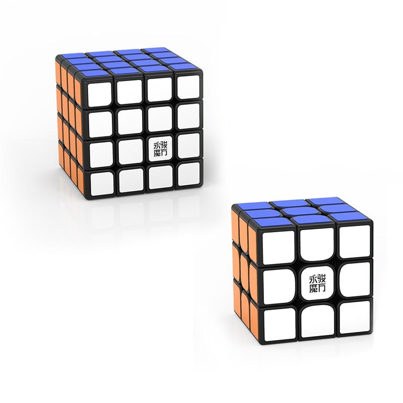 Original YJ Zhilong Mini 3x3 M 4x4 M 5x5 M Magnetic Speed Cubes Small Size YongJun Zhilong Magico Cube Puzzle Toys Magnetic Cube 7