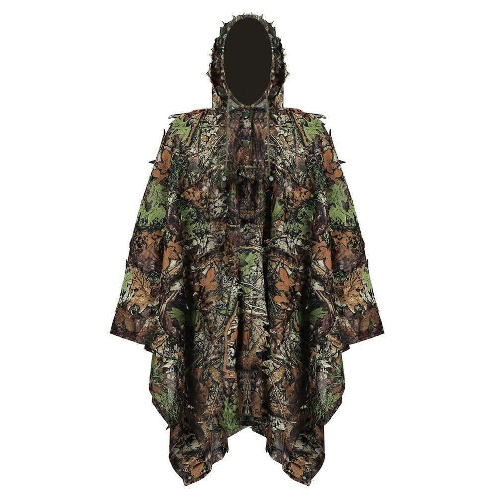 Camo Clothes 3D Maple Leaf Bionic Hunting Ghillie Yowie Sniper Birdwatch Airsoft Camouflage Clothing Jacket Multicam <font><b>Jungle</b></font> image