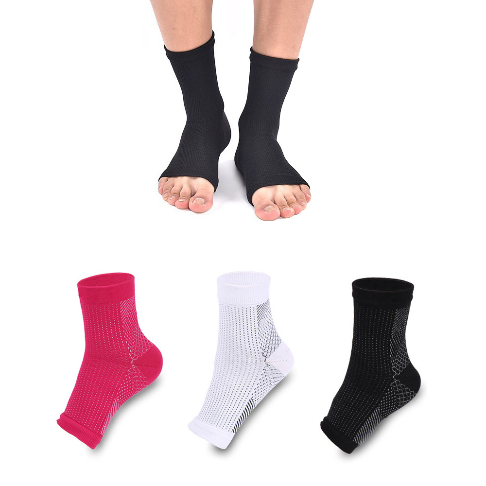 Compression Foot Ankle Sleeve Anti Fatigue Compression Foot Sleeve Sock For Ankle Swelling Plantar, 1 Pair