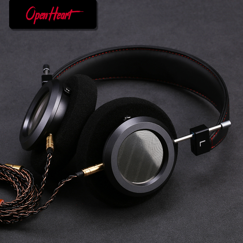 HiFi Headphone Over Ear Open Back Headset Full Range Metal Housing High Quality Audio Wired Monitors Music Comfortable earpads