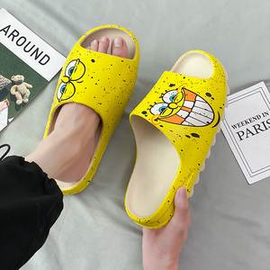 LLUUMIU Slippers Women Graffiti Pattern Platform Cartoon Outdoor summber Beach Slides Soft Sole Women Flip-flops room shoes