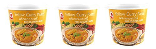 COCK BRAND Yellow Curry Paste 3x 400g