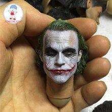 1/6 ölçekli erkek Joker başkanı şekillendirici MJ12 Joker yeni Headplay DIY Heath Ledger figürleri