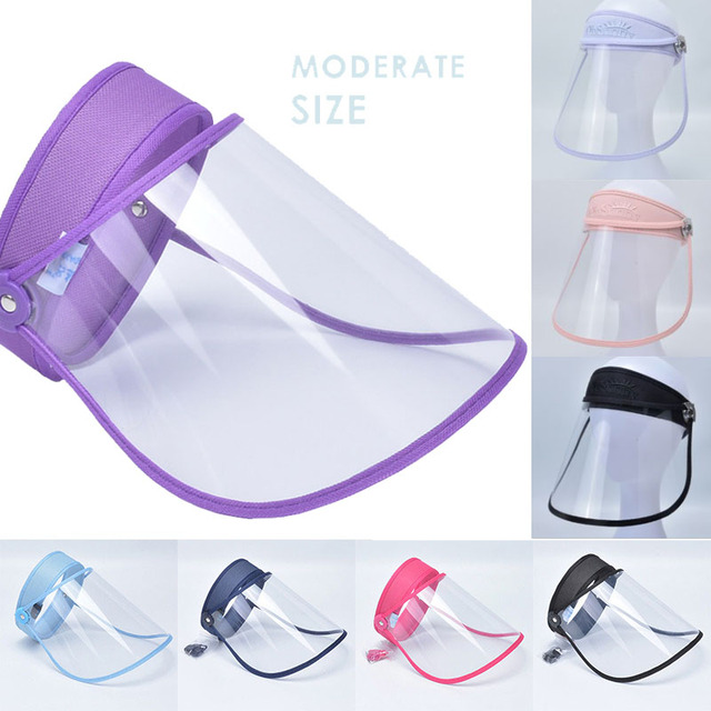 Anti Droplet Dust proof Full Face Cover Mouth Mask Protective High quality Visor Shield Droplet Face Shield Washable Transparent
