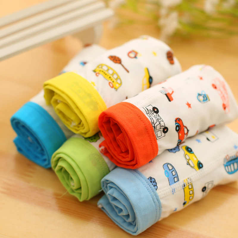 1pcs Toddler Underwear Boys Underpants Boxer Briefs Cute Car Print Briefs Kids Underwear Male Cartoon Printed Children's Clothin