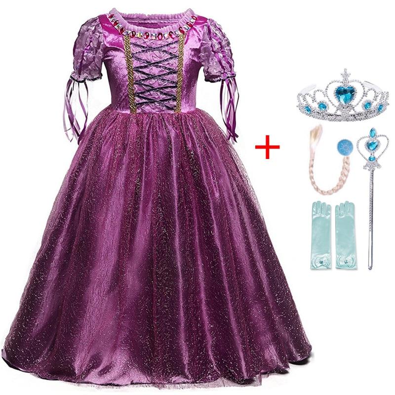 Autumn Winter Elsa Dress Girls Clothes Halloween Party Dress up Chidlren Clothing Christmas Kids Dresses for Girls Size 4-10Yrs 5