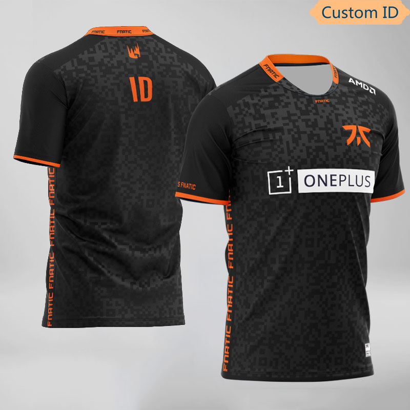 LOL LEC S10 CSGO Dota2 Fnatic Esports Team Jerseys Customized Name Fans Game T Shirt For Men Women Custom ID Tees Shirt