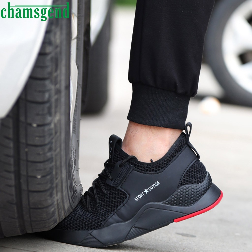 CHAMSGEND Shoes New Toe Trainers Men Sneakers Safety Work Outdoor Sneakers Hot Sell Breathable Training Jogging Shoes   09
