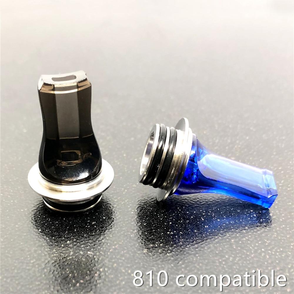 Flat Acrylic MTL 510 810 Drip Tip MouthPiece DripTip 810 For Atomizer RTA RBA RDA