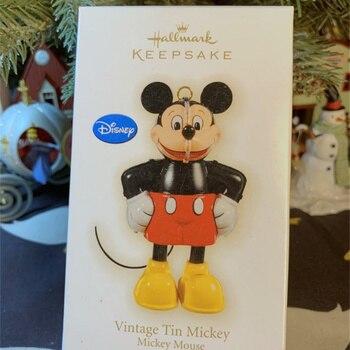1 stück Vintage Zinn Disney Mickey maus figur spielzeug weihnachten baum ornament spielzeug beste geschenk für kinder
