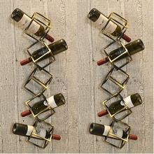 Wine-Rack Red-Wine Metal for High-Footed Retro-Design Upside-Down Creative