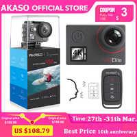 AKASO V50 Elite 4K nativa/60fps 20MP Ultra HD 4K Cámara de Acción de deporte de WiFi táctil pantalla Control de voz EIS 40m impermeable Cámara