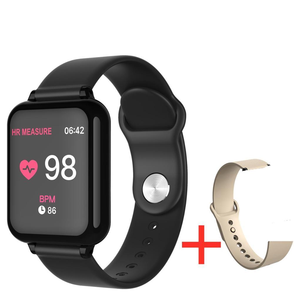 696 B57 smart watch IP67 waterproof smartwatch heart rate monitor multiple sport model fitness tracker man women wearable 5