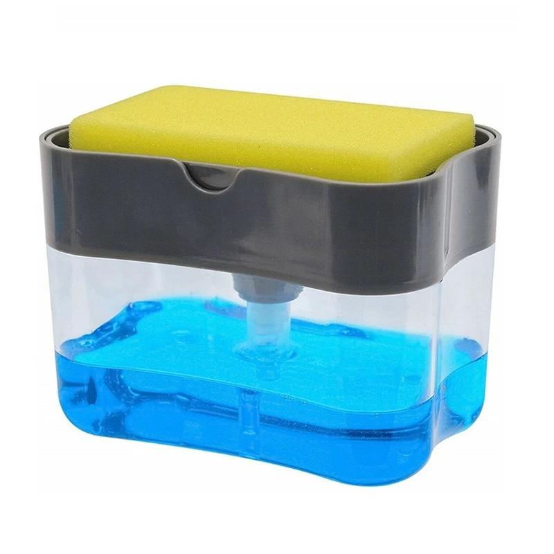 compact storage for dish Soaps Soap Pump Dispenser and Sponge Holder Instant