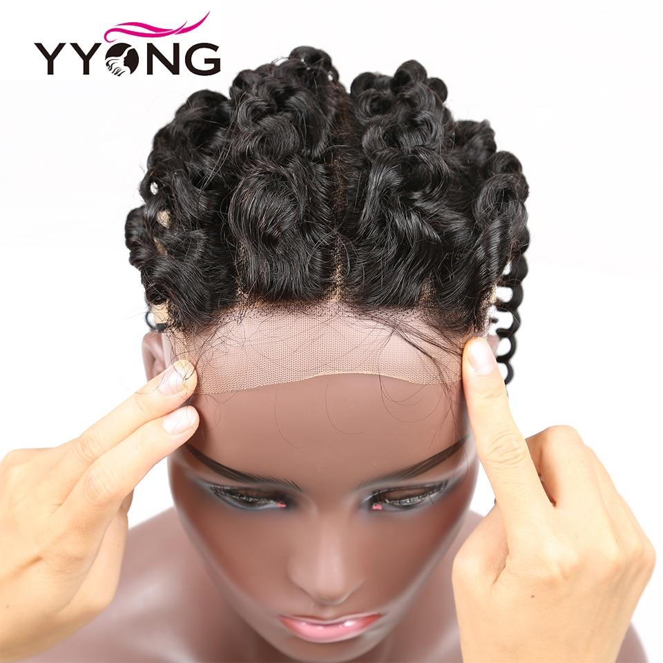 Yyong Hair 5x5 Lace Closure  Kinky Curly 10-22 Inch Free Part 100%  Closure  4