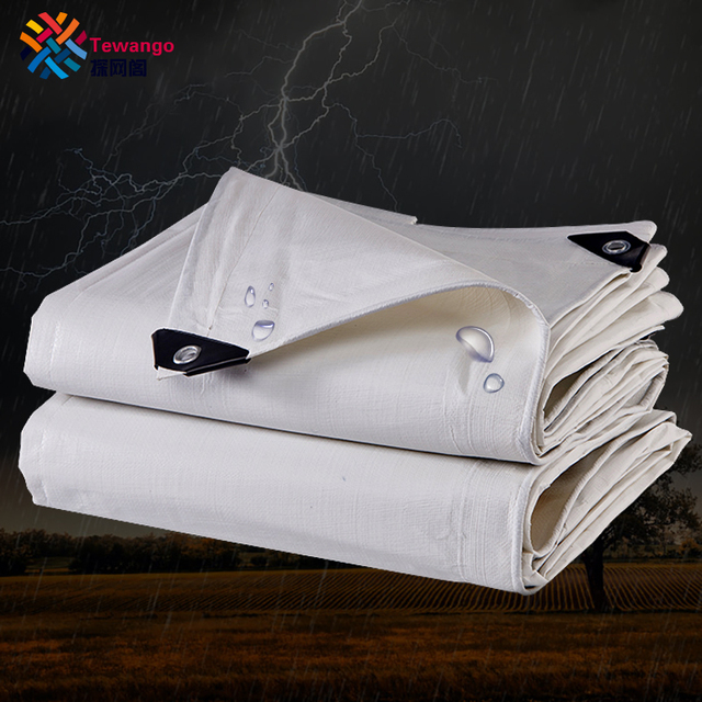 Tewango Heavy Duty Waterproof Tarpaulin Thicking Canvas Outdoor Awning Sunshade Cloth Car Cover Porch Patio Roof