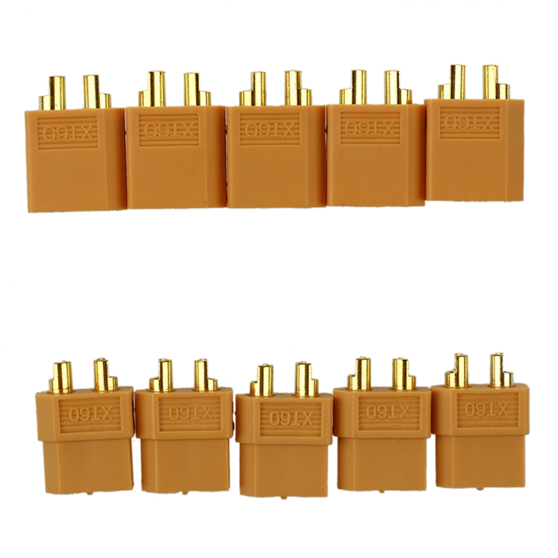 XT60 Connector Pairs - Pack Of 5 Pairs