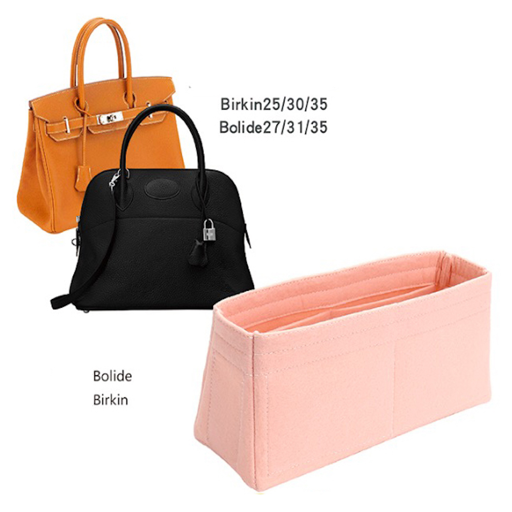 For B.olide/h.ermes/b.irkin All Handmade 3MM Felt Insert Bags Organizer Makeup Handbag Organize Portable Cosmetic Base Shape