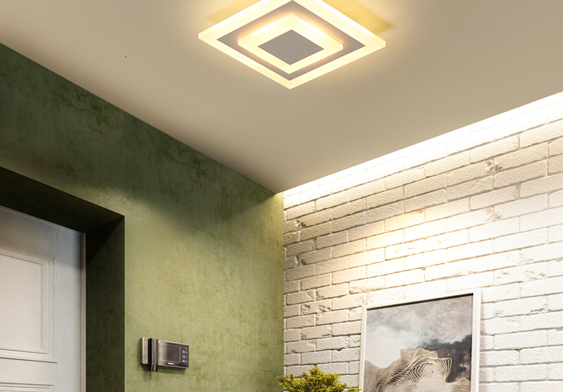 Modern Ceiling Lights Bluetooth APP control lighting For Hallway Balcony Corridor Bedroom Acrylic indoor Lamps lustre AC 90-260V