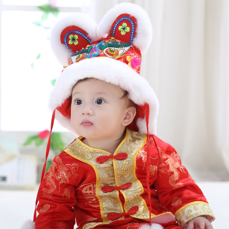 Traditional Chinese Tang Suit Hanfu New Year Spring Festival Newborn Baby Clothing Set Infant Boy Girl Birthday Gift Performance