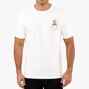 Men T Shirts One Punch Man Mini Saitama Says Ok Pocket tee Summer/Autumn O-neck T-shirts For Adult