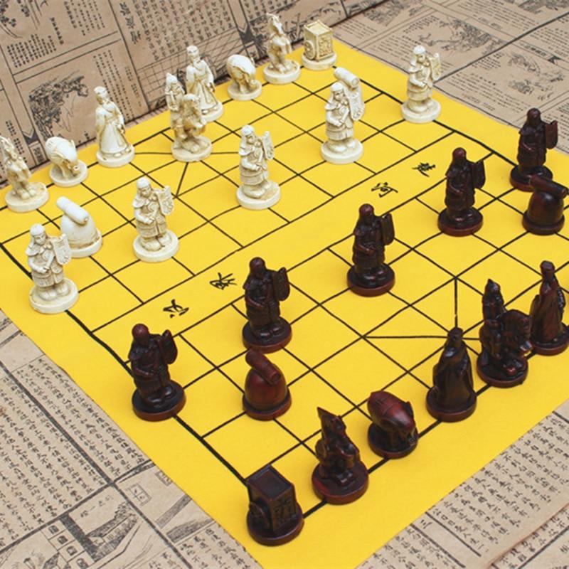 Resin Buah Catur Permainan Catur Cina Baru Tradisional Suede Kulit Papan Catur Berkualitas Tinggi Papan Catur Permainan Retro Catur Set Aliexpress