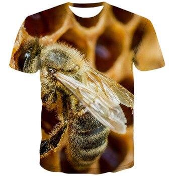3d T-shirt Bee T Hemd Männer Harajuku T-shirts 3d Hilarious Shirt Drucken Tier T-shirt Gedruckt Straße Anime Kleidung Kurzarm