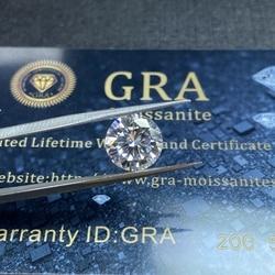 Lab Gemaakt Diamond 2 Ct 8 Mm D Kleur Ronde Briljant Geslepen Losse Moissanite VVS1 Grade Uitstekende Cut Moissanite Tone voor Ring