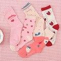 Kawaii Süße frauen Socken Lustige Nette Creme Candy Farbe Milch Erdbeere Cosmic planet Kreative Erdbeere Muster Hochschule Wind