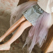 Fashion Denim Girl Skirts Tutus Children's Clothes Teenage Girls Tutu Skirts Puff Princess Child Kids Skirt