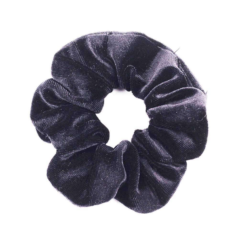 40 Warna Beludru Korea Rambut Scrunchie Elastis Rambut Karet Gelang Wanita Hiasan Kepala Rambut Cincin Ekor Kuda Aksesoris
