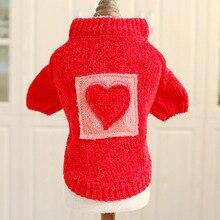 Coat Sweater Puppy-Hoodie Dog Jumper Knited Winter Love-Design Warm New Apparel