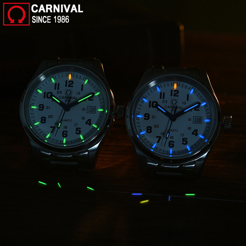 Carnaval t25 tritium luminoso relógio masculino militar dos homens relógios de luxo da marca superior quartzo relógio masculino reloj hombre 2019 - 5