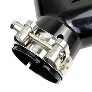 Image 5 - Podwójne włókno węglowe + czarna stal nierdzewna uniwersalny M wydajność końcówki rury wydechowej z włókna węglowego końcówki tłumika dla BMW