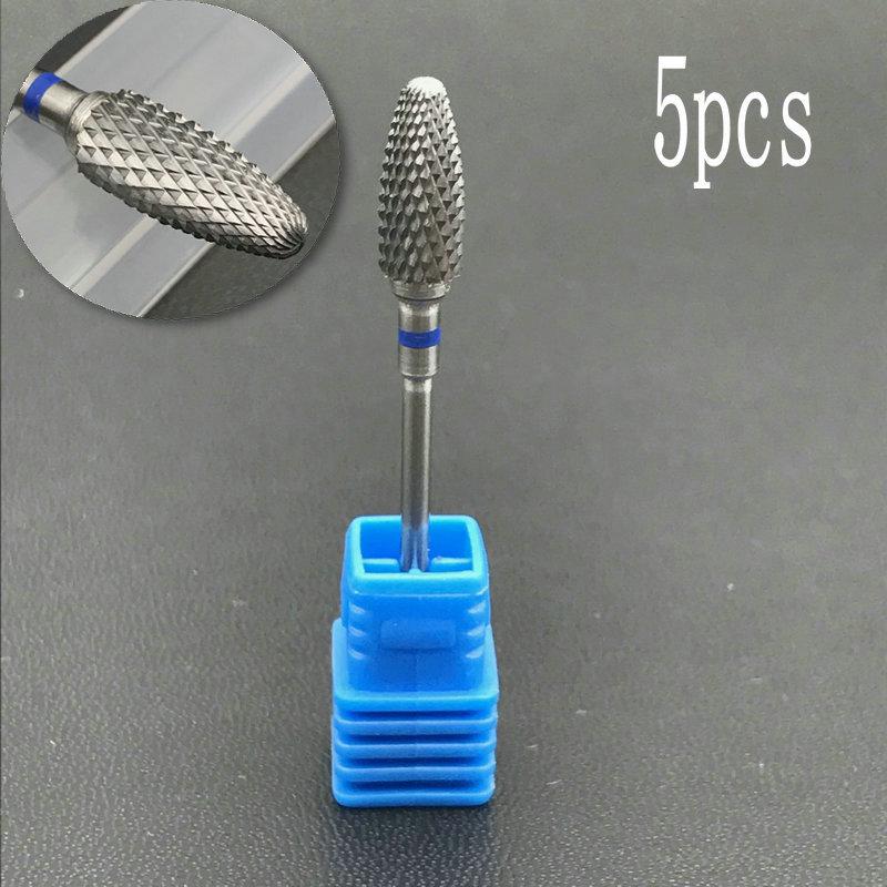 5pcs Tungsten Carbide Burs-Cross Cut - Carbide Nail Drill Bit&Dental Burs
