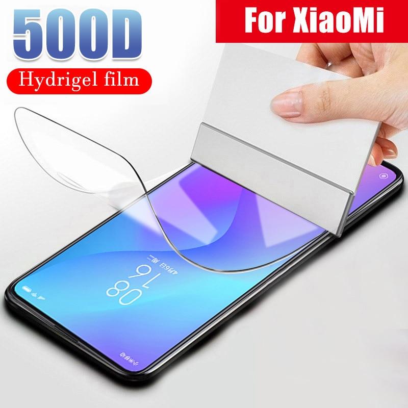 500D Protective Hydrogel Film For Xiaomi mi 8 9 SE Pro Lite A1 A2 A3 Lite CC9 9T Pro Pocophone F1 Screen Protector Not Glass(China)