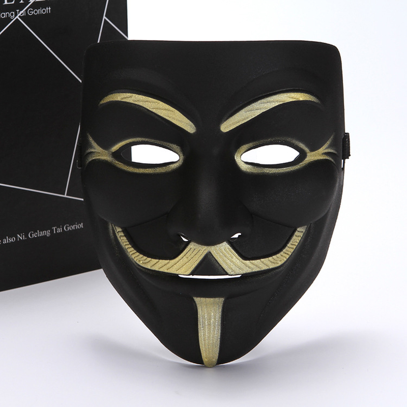 Party Masks V For Vendetta Masks Anonymous Guy Fawkes Fancy Dress Adult Costume Accessory Halloween Decorations Party Cosplay Masks