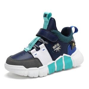 Image 3 - Детские кроссовки, обувь для мальчиков, модная кожаная обувь для девочек, нескользящая обувь для бега для девочек, кроссовки, Детские лоферы, осень 2020
