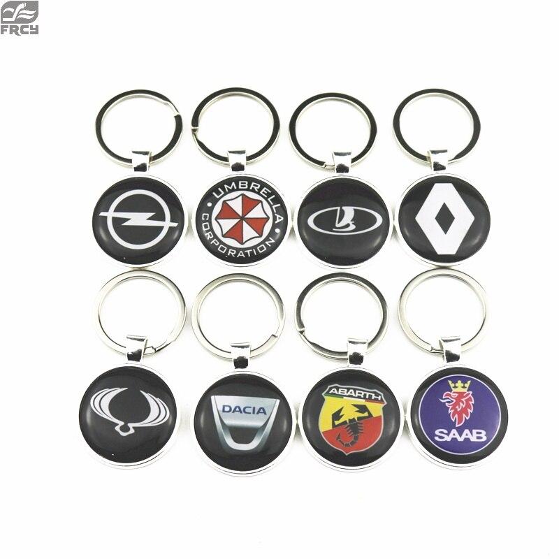 1pcs พวงกุญแจรถสติกเกอร์สำหรับ VW Golf Audi FORD Renault Fiat BMW Volvo Opel Opel Skoda รถอุปกรณ์เสริมรถจักรยานยนต์รถยนต์