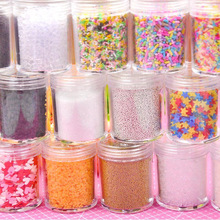 Crystal Mud Slime Glitter Filler for Decoration Sequins DIY Supplies Jewelry Toys 14 Kinds Materials Other Tools