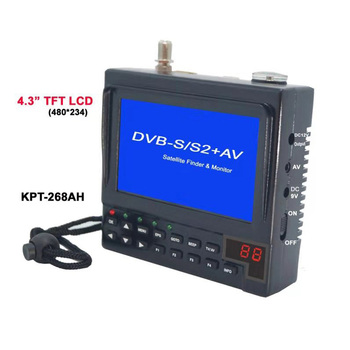 KPT-268AH DVB-S2 Satfinder Full HD Digital Satellite TV Receiver Finder Meter MPEG-4 Modulator DVB-S Sat Finder VS KPT 356H